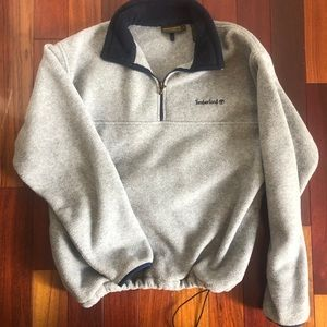 Timberland Gray Pullover Fleece 1/4 ZIP, pockets